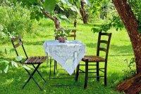 Romantyczna randka w ogrodzie